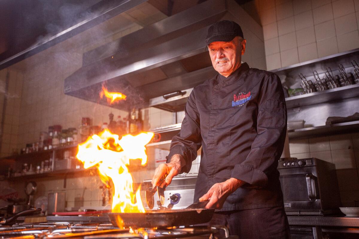 Kochen für unsere Gäste